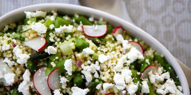 Asparagus, Lemon and Chevre Pasta Salad