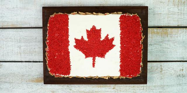 Canada 150 Flag Cake