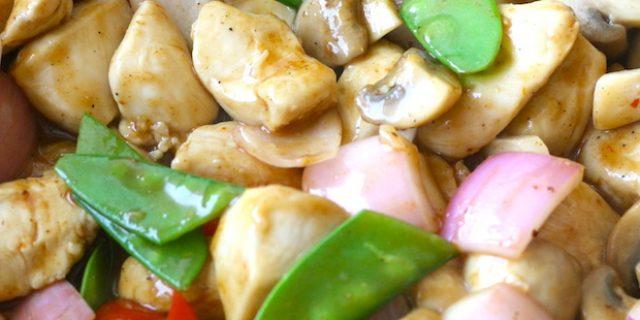 Cashew Chicken in Sichuan Sauce