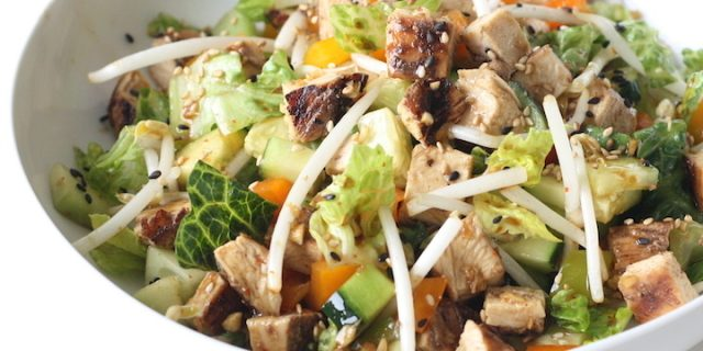 Chinese Honey BBQ Chicken Salad