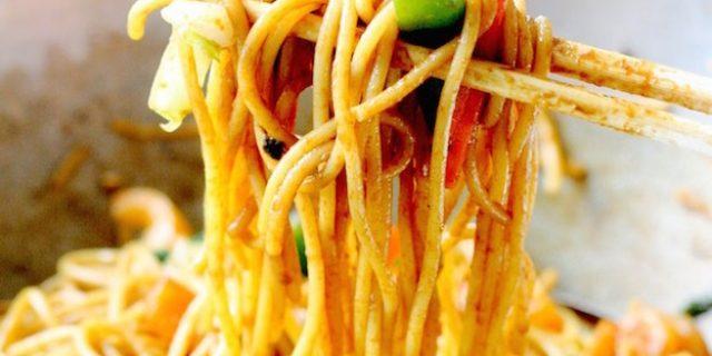Spicy Shrimp Lo Mein